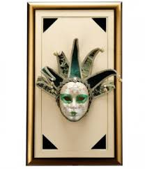 Decorative Venetian Wall Masks Frame Wall Hanging Venetian mask framed wall hanging The Art 12