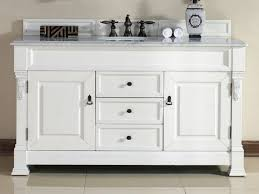 42 inch bathroom vanity. Beige Wall Color With Classic White Wooden 42 Inch Bathroom Vanity Granite Top Using Black Knobs And Copper Faucets For Interesting Plan 0