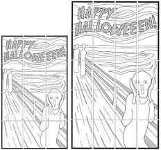 Happy Halloween Scream Mural - Art Projects for Kids