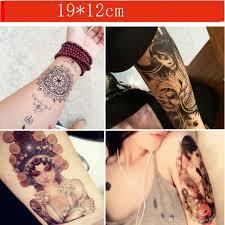 временные татуировки водонепроницаемый цветок рука человеческий скелет карп и