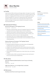 Resume Restaurant Manager Restaurant Manager Resume Templates 2019 Free Download