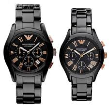 buy imported emporio armani ar1410 ar1411 couple watches black buy imported emporio armani ar1410 ar1411 couple watches black ceramic pair online