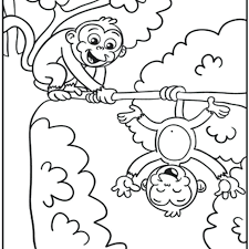 Free Monkey Coloring Pages K5024 Free Printable Monkey Coloring Page