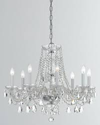 traditional crystal 8 light crystal chrome chandelier