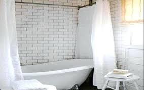 clawfoot tub shower curtain liner rod ideas glass curtain for corner above tub bathtub garden shower