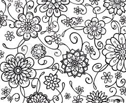 black and white floral wallpaper pattern. Delighful And Black And White Flower Marker Art With Fancy Curls Curves Swirls Floral  Wallpaper Pattern Throughout Black And White Floral Wallpaper Pattern