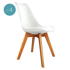 replica charles ray eames pu leather dining chair white set of 4 by resort living zanui