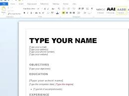 How To Create A Resume Fascinating Creating A Resume On Word Durunugrasgrup