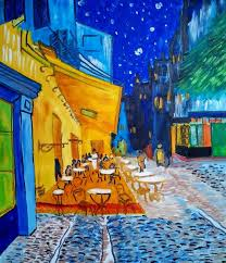 saatchi art artist pawel prus painting cafe terrace at night inspired by