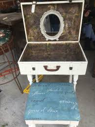 Repurposed Items Old Suitcase Into Vanity Original Creations And Repurposed Items