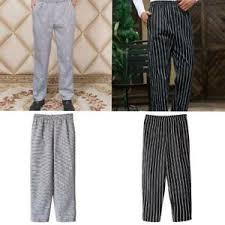 Ebay Pants Size Chart Details About Mens Womens Chef Kitchen Catering Cooks Trousers Pants Uniform Plus Size
