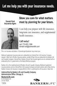 Bankers Life And Casualty Let Me Help You With Your Insurance Needs Bankers Life Donald Ruid