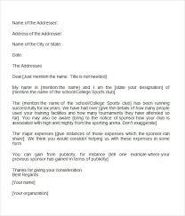 Sponsorship Letter 40 Free Download For Word Enchanting Format For Sponsorship Letter
