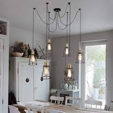 industrial chic lighting. Lighting:Industrial Chic Chandelier Beautiful Rustic Dining Room Pendant Lighting Style Sets Chairs Design Table Industrial I
