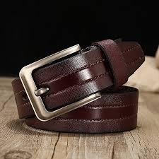 men s leather belt gold world casual pin buckle leather waist band belt men 125cm
