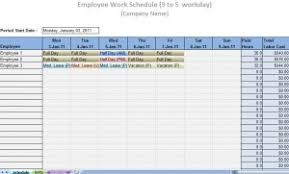 Work Schedule Spreadsheet Template Printable Work Schedule Templates Printable Work Schedules