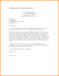 7 Cover Letter Sample Attorney Report Examples