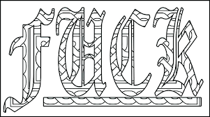 Curse Words Coloring Pages Free Swear Word Coloring Pages Printable