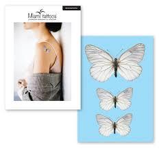 переводные тату Miami Tattoos White Butterfly