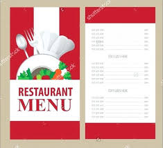 Restaurant Menu Card Template Download Hotel Templates Free