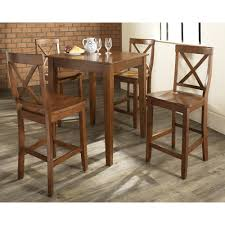5 Piece Bar Table Set Crosley 5 Piece Counter Height Pub Set Reviews Wayfair