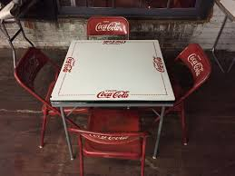 rare coca cola table with 4 chairs vintage mexico tome e porcelain top
