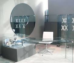 glass home office desks. Curved Glass Desk Modern Home Office Furniture : , Desks