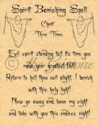 spirit banishing spell book of shadows spells page bos page wiccan charmed