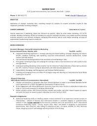 Objective Of Strategic Marketing Tools With Mba Marketing Resume