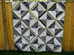 Black, White & Lime Green String Quilt | String quilts, Patchwork ... & Black, White & Lime Green String Quilt Adamdwight.com