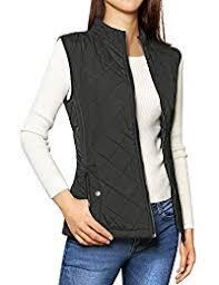 Women's Outerwear Vests | Amazon.com & Women's Stand Collar Lightweight Gilet Quilted Zip Vest Adamdwight.com