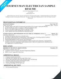 Master Electrician Cover Letters New Journeyman Electrician Resume