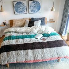 blue duvet sets spell color solid color fleece fabric bedding set duvet cover warm bed sheet blue duvet sets