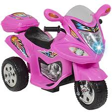 Choice Products® Kids Ride On Motorcycle 6V Toy Battery Powered Electric 3 Wheel Power Bicycle Pink Best Gifts For 6 Year Old Girls ⋆ Perfect Gift Store