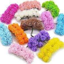 <b>36/72</b>/<b>144pcs Mini Foam</b> Rose Artificial Flowers For Home Wedding ...