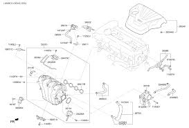28310 2b700 genuine hyundai manifold assy intake 2011 hyundai veloster intake manifold diagram 28283a11