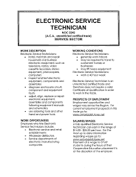 Electronics Mechanic Sample Resume Mitocadorcoreano Com