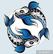 Fototapeta Vinylová Sea Zvířat Ryby Tattoo Astrologie Znamení