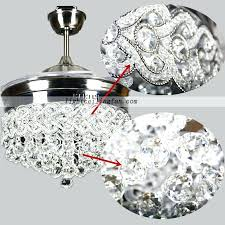 42inch retractable crystal led ceiling fan with remote crystal ceiling fans crystal bead antique white candelabra