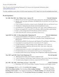 Computer Technician Resume Sample Updated Network Technician Resume
