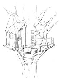 Coloring Pages Ideas Tree House Coloring Pages Splendi Image Ideas