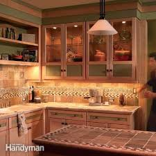 Under cabinet accent lighting Cove Cabinet Lighting Ideas How To Install Under Cabinet Lighting In Your Kitchen Family Handyman Inside Ideas Cabinet Lighting Klukiinfo Cabinet Lighting Ideas Under Cabinet Lighting Kitchen Cabinet Accent