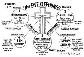 Tithes And Offering Chart The Five Offerings Of Leviticus 1 7 Chart And Brief