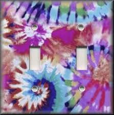 peace sign <b>rainbow tie dye</b> swirl light switch covers plate and outlets
