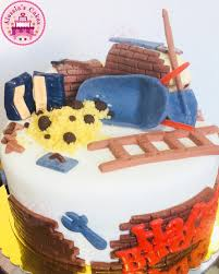 Bricklayer Fondant Cake Alessias Cakes Italian