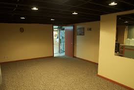 Unfinished Basement Ceiling Paint - Painted basement floor ideas