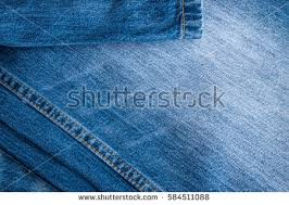 Blue Jeans And Stitches Texture Denim Background With Seam Ez Canvas