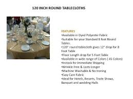tablecloth for 12 foot table banquet and wedding halls inch round tablecloths size