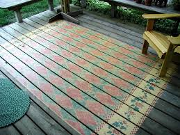 view in gallery rug stenciled on outdoor deck country pattern 3