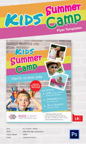 summer camp flyer jpg psd esi indesign creative kids summer camp flyer template